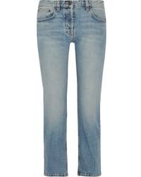 The Row Ashland Cropped Mid Rise Straight Leg Jeans Light Denim