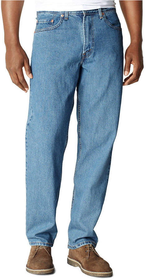 d744516f04a ... Levi s Big And Tall 550 Relaxed Fit Medium Stonewash Jeans ...