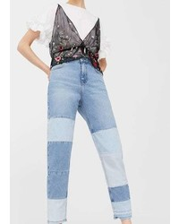 Mango Block Color Straight Jeans