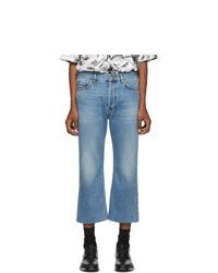 Balenciaga Blue Cropped Jeans
