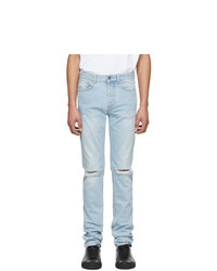 Givenchy Blue Distressed Jeans
