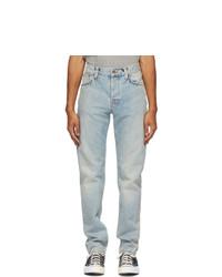 Nudie Jeans Blue Faded Steady Eddie Ii Jeans