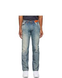 Heron Preston Blue Levis Edition 501 Jeans