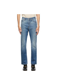 Gucci Blue Marble Wash Regular Fit Jeans