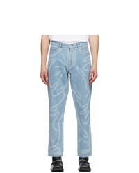 Martine Rose Blue Paint Stroke Jeans