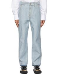 Ader Error Blue Raw Edge Jeans