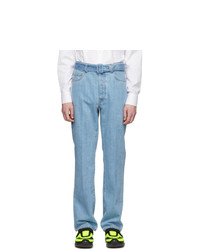 Prada Blue Snow Jeans