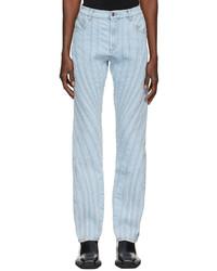 Mugler Blue Spiral Demin Jeans