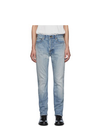 Saint Laurent Blue Straight Cut 80s Jeans