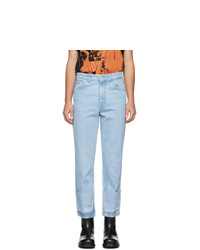 Raf Simons Blue Turn Up Jeans