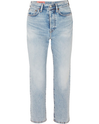 Acne Studios Cropped High Rise Straight Leg Jeans