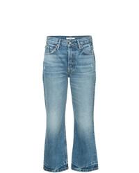 Grlfrnd Cropped Straight Leg Jeans