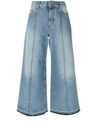 Alexander McQueen Cropped Wide Leg Jeans