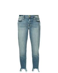 Frame Denim Distressed Detail Cropped Jeans
