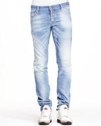 DSQUARED2 Distressed Five Pocket Jeans Light Blue
