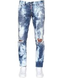 DSQUARED2 175cm Slim Bleached Wash Denim Jeans