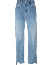 Vetements Faux Patch Pocket Wide Leg Jeans