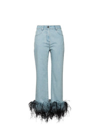 Prada Feather Hem Jeans