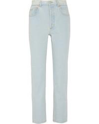 Balenciaga Genuine High Rise Straight Leg Jeans Light Blue