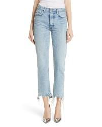 Grlfrnd Helena Frayed Hem High Waist Jeans