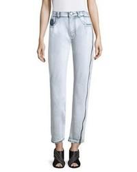 3.1 Phillip Lim High Rise Zip Detail Straight Leg Jeans