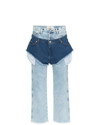 Natasha Zinko High Waisted Jeans With A Denim Shorts Layer