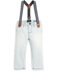Infant Boys Bardot Junior Denim Pants With Suspenders
