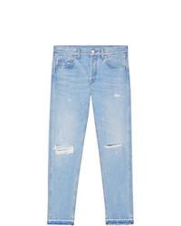 Gucci Light Blue Denim Punk Pant