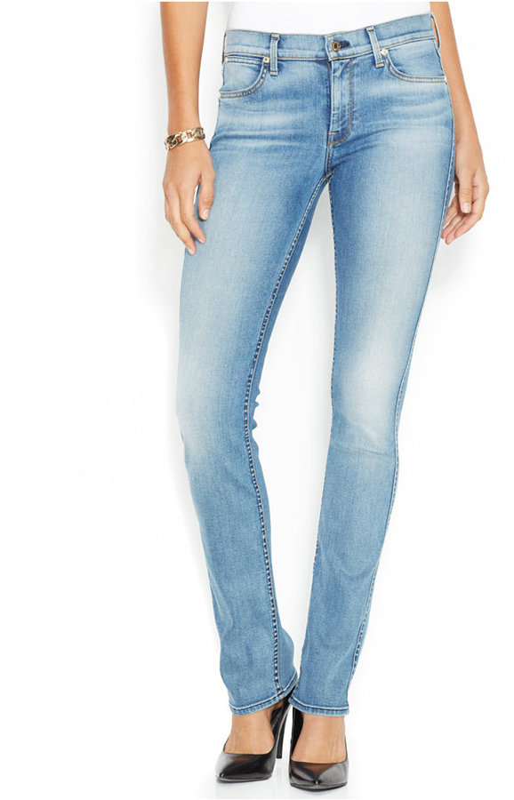 c67181e179ab7 ... 7 For All Mankind Mid Rise Straight Leg Jeans Slim Illusion Swiss Alps  Wash ...