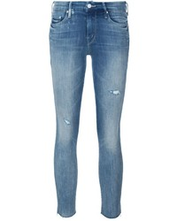 Mother Looker Frayed Ankle Jeans