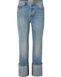 Proenza Schouler Pswl High Rise Straight Leg Jeans