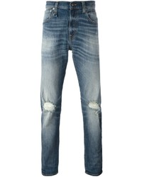 R 13 R13 Frayed Straight Jeans