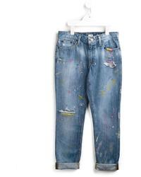 Ralph Lauren Kids Paint Splattered Jeans
