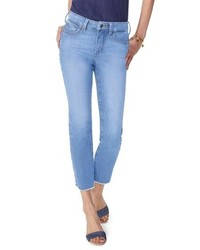 NYDJ Sheri High Waist Frayed Hem Slim Ankle Jeans