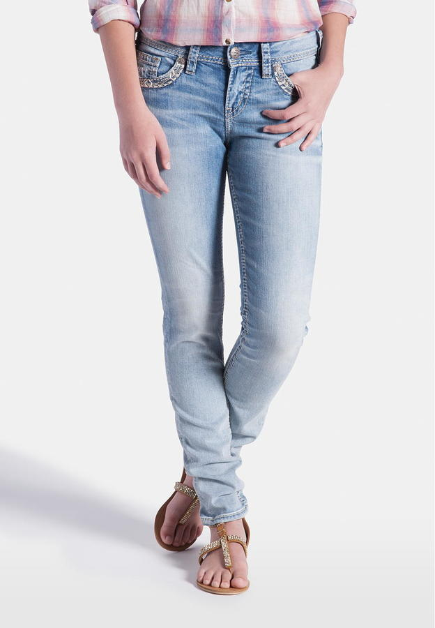 Maurices Silver Jeans Co Suki Classic Light Wash Skinny Jeans ...