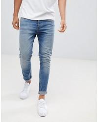 Pier One Slim Fit Jeans In Light Blue