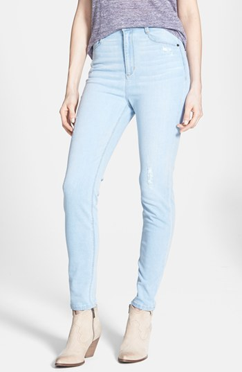 SP BLACK High Waist Skinny Jeans Light Wash Size 30 30 | Where to ...