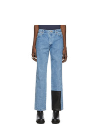 St-Henri Ssense Blue Welding Washed 1 Jeans