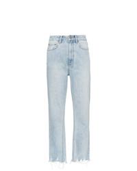 Ksubi Straight Leg Cropped Jeans