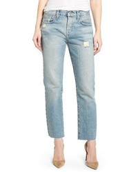 Current/Elliott The Crossover High Waist Straight Leg Jeans
