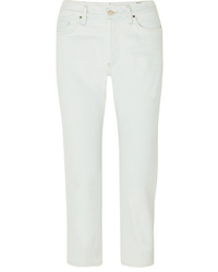 Goldsign The Low Slung Cropped Low Rise Straight Leg Jeans