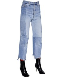 Vetements Reworked Biker Cotton Denim Jeans