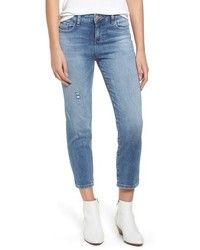 PROSPERITY DENIM Washed Crop Straight Leg Jeans