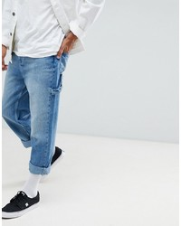 YOURTURN Wide Fit Cropped Jeans In Light Wash