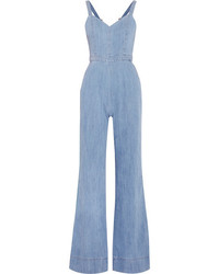 Alice olivia cristal chambray jumpsuit indigo medium 3715754
