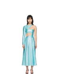Saks Potts Blue Asymmetric Jumpsuit And Skirt Set