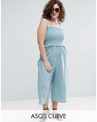 Curve curve jumpsuit in cotton with shirred bodice medium 3717908