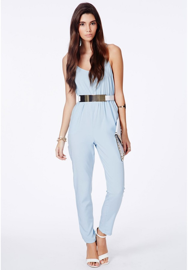 Collection Light Blue Jumpsuit Pictures - Reikian