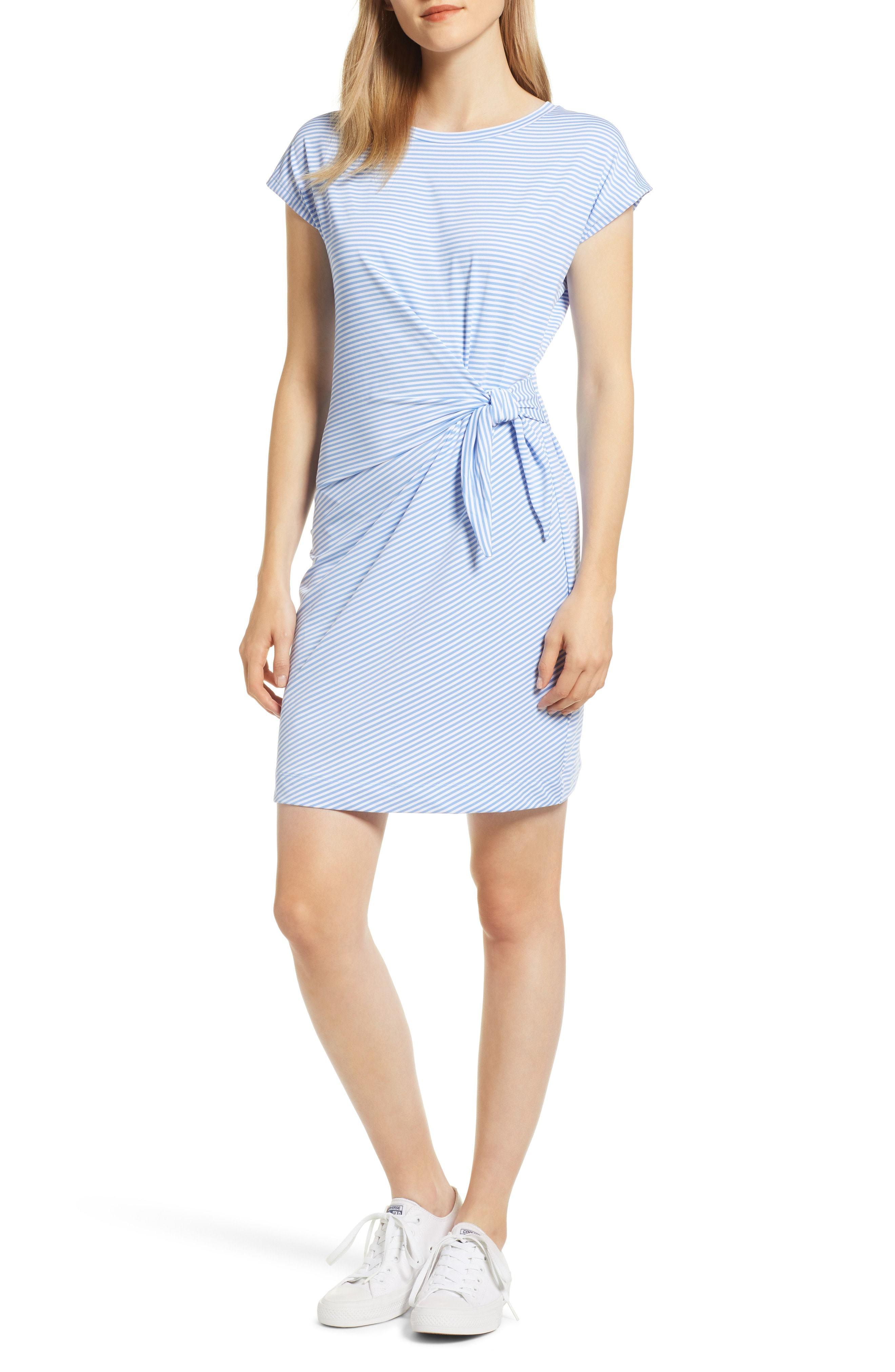 Vineyard Vines Sankaty Side Tie Stretch Knit Dress