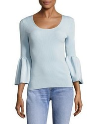 Elizabeth and James Willow Bell Sleeve Rib Knit Top